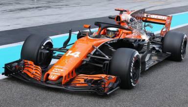 Fernando Alonso McLaren MCL32 Abu Dhabi F1 2017 test halo aero