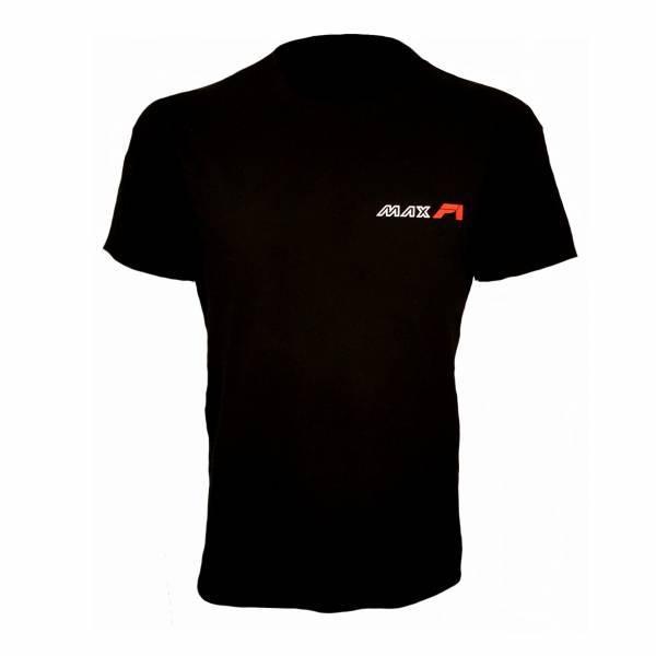 MAXF1 pamucna majica mali natpis crna