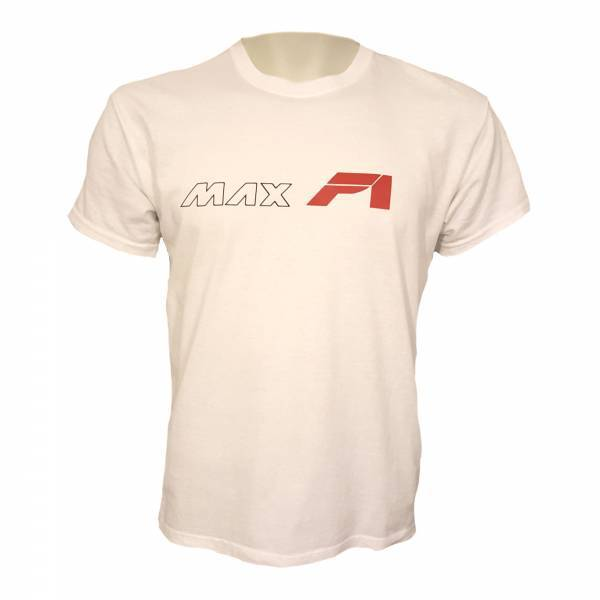 MAXF1 pamucna majica veliki natpis bijela