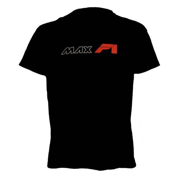 MAXF1 pamucna majica veliki natpis crna