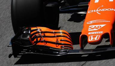 McLaren MCL32 Brazilian GP F1 2017 front wing Photo McLaren