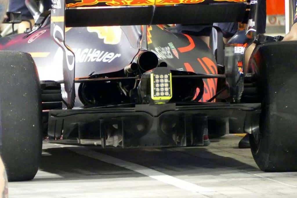 Red Bull RB13 diffuser Abu Dhabi F1 2017