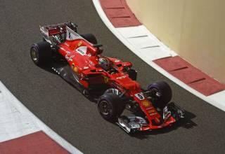 Vettel Abu Dhabi F1 2017 pitlane exit Photo Ferrari