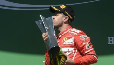 Vettel Brazilian GP F1 2017 podium Photo Ferrari