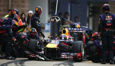 Webber pitstop F1 2013 Korea Photo Red Bull