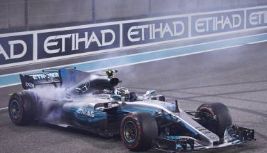 Bottas Mercedes Abu Dhabi F1 2017 celebration win