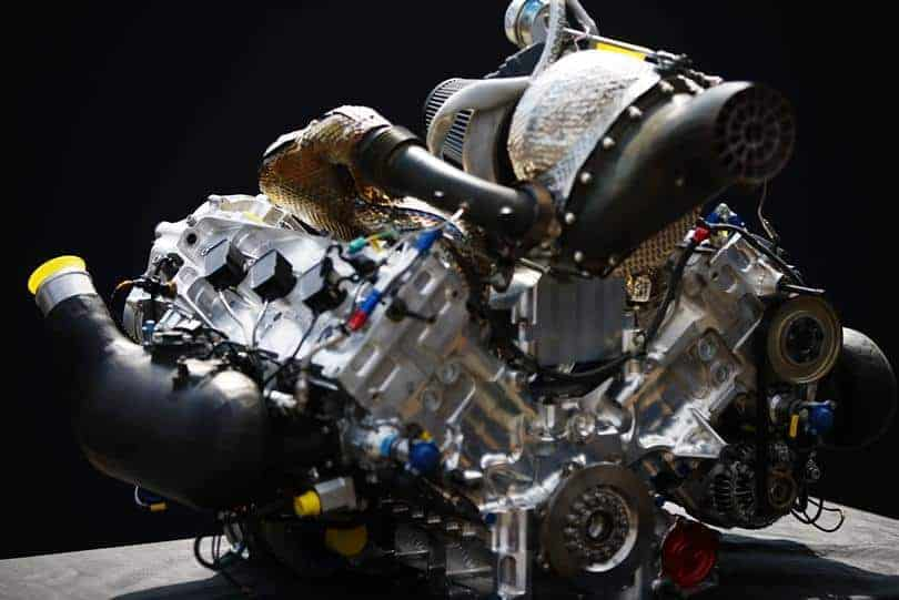 FIA Formula 2 car Mecachrome engine turbo