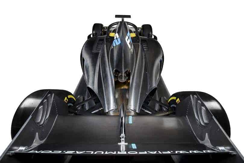 FIA Formula 2 car rear end shot