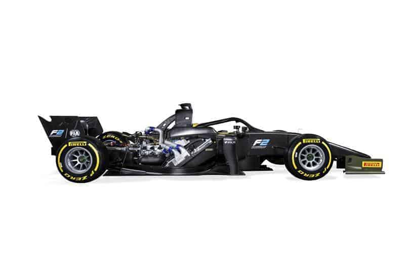 FIA Formula 2 car side view shot