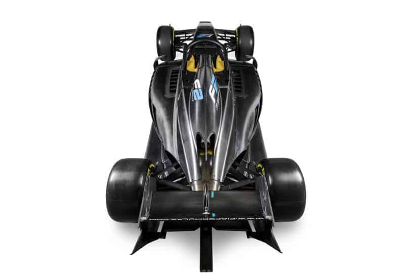 FIA Formula 2 car top shot