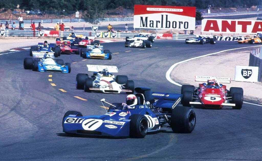 French GP Paul Ricard F1 1971 Stewart leads Clay Regazzoni and Pedro Rodriguez Photo F1history