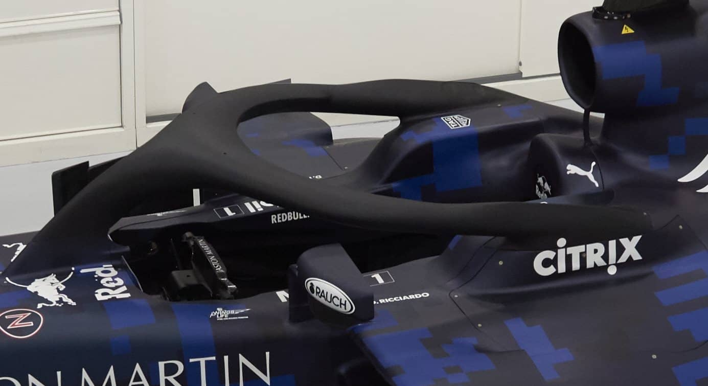 Aston Martin RB14 F1 2018 halo protection