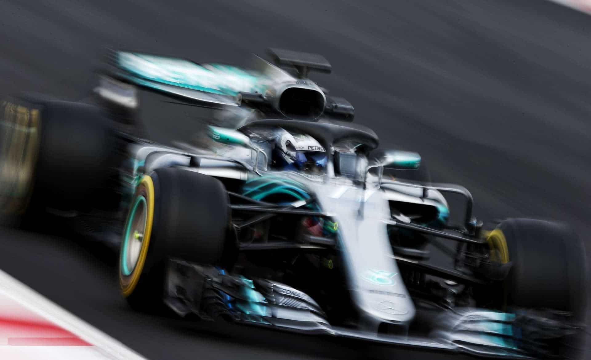 Bottas Mercedes W09 Barcelona F1 2018 testing