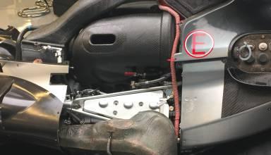 Mercedes F1 engine plenum zoom