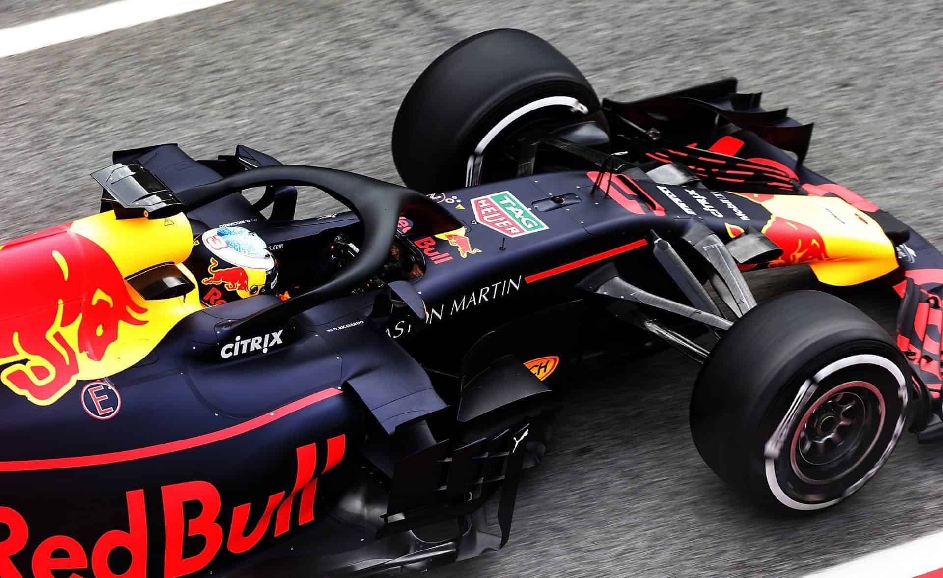 Ricciardo Red Bull RB14 Barcelona Day 1 top