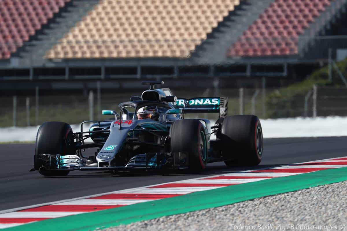 Lewis Hamilton Mercedes W09 F1 2018