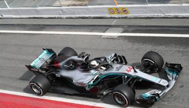 Lewis Hamilton Mercedes W09 F1 2018 pitlane top