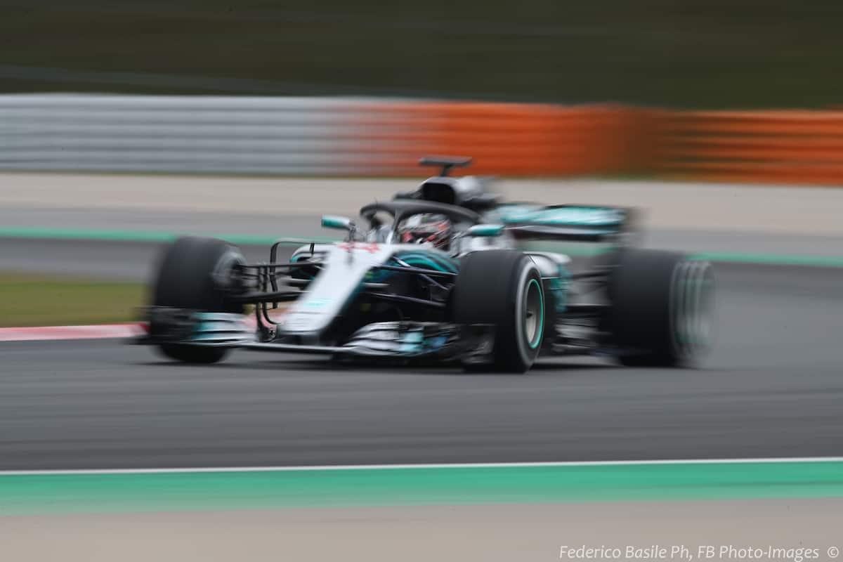 Lewis Hamilton Mercedes W09 F1 2018 Barcelona F1 test