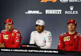 2018 Australian GP post qualifying press conference Hamilton Raikkonen Vettel