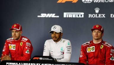 2018 Australian GP post qualifying press conference Hamilton Raikkonen Vettel