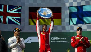 Australian GP F1 2018 podium Photo Ferrari