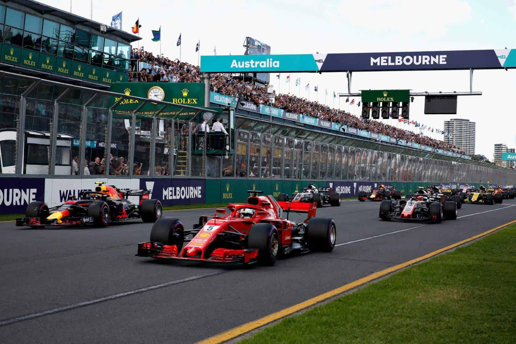2018 Australian GP start