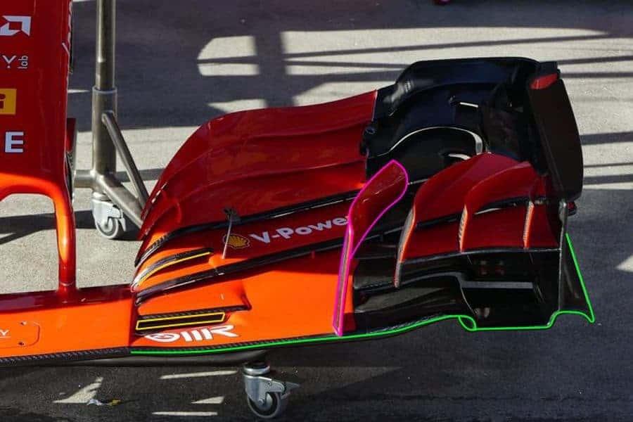 Ferrari F1 2018 SF71H front wing 1 Australian GP F1 2018 Photo AMuS MAXF1net