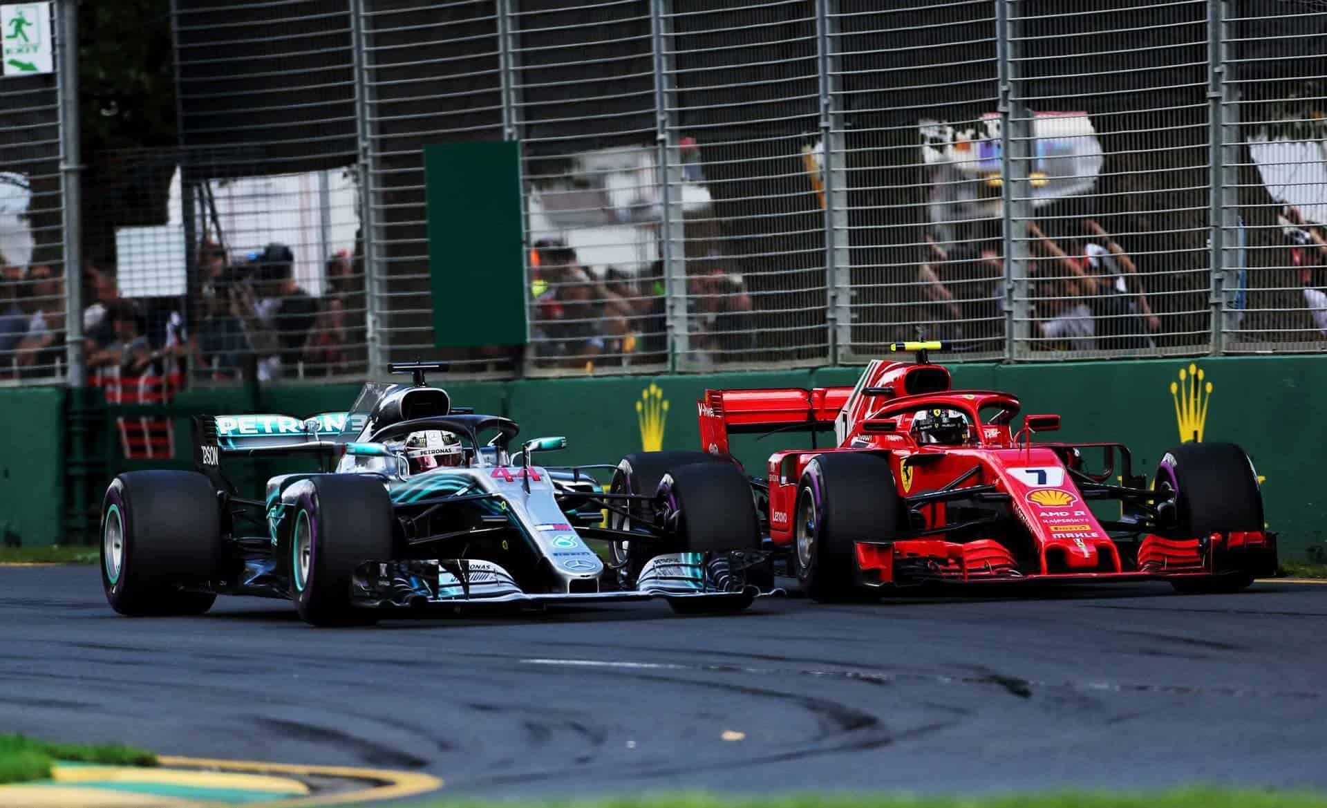 Kimi Raikkonen Ferrari F1 2018 Australian GP Lewis Hamilton Mercedes Photo Ferrari