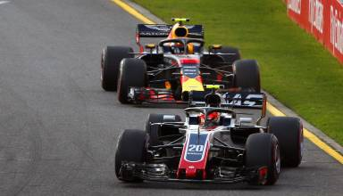 Magnussen leads Verstappen Australian GP F1 2018 Photo Haas