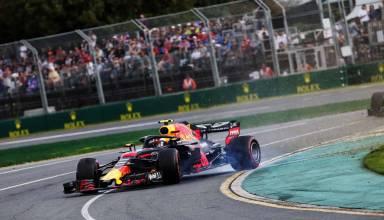 Max Verstappen Red Bull RB14 Australian GP F1 2018 spin Photo Red Bull