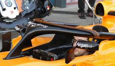 McLaren MCL33 Renault F1 2018 Australian GP halo protection Photo AMuS MAXF1net