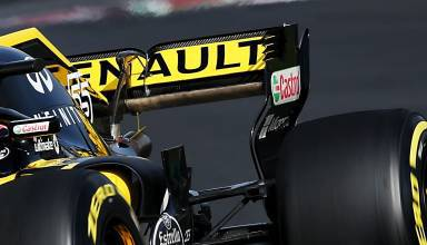 Renault RS18 rear wing exhaust blown effect F1 2018 front zoom Photo Renault MAXF1net