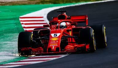 Sebastian Vettel Ferrari SF71H Barcelona F1 2018 sparks chicane Photo Ferrari