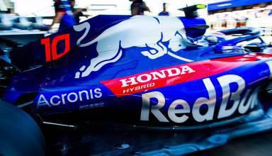 Toro Rosso Honda STR13 F1 2018 Pierre Gasly rear end F1 engine