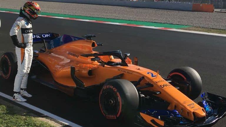 Vandoorne McLaren F1 2018 failure