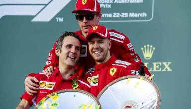 Vettel Raikkonen Ferrari Australian GP F1 2018