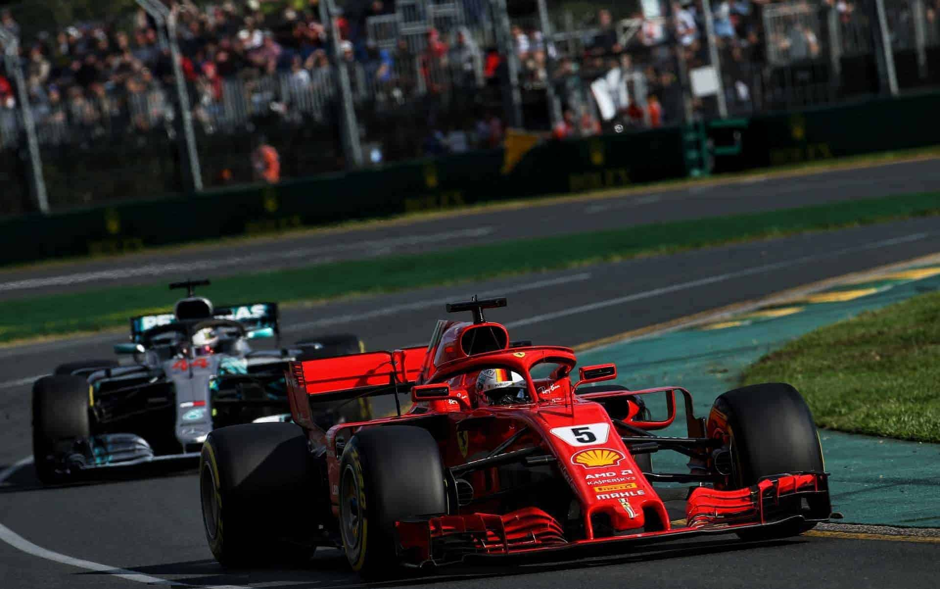 Vettel leads Hamilton Australian GP F1 2018