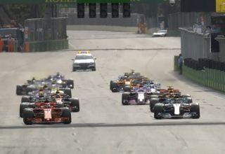 Azerbaijan GP F1 2018 start of the race