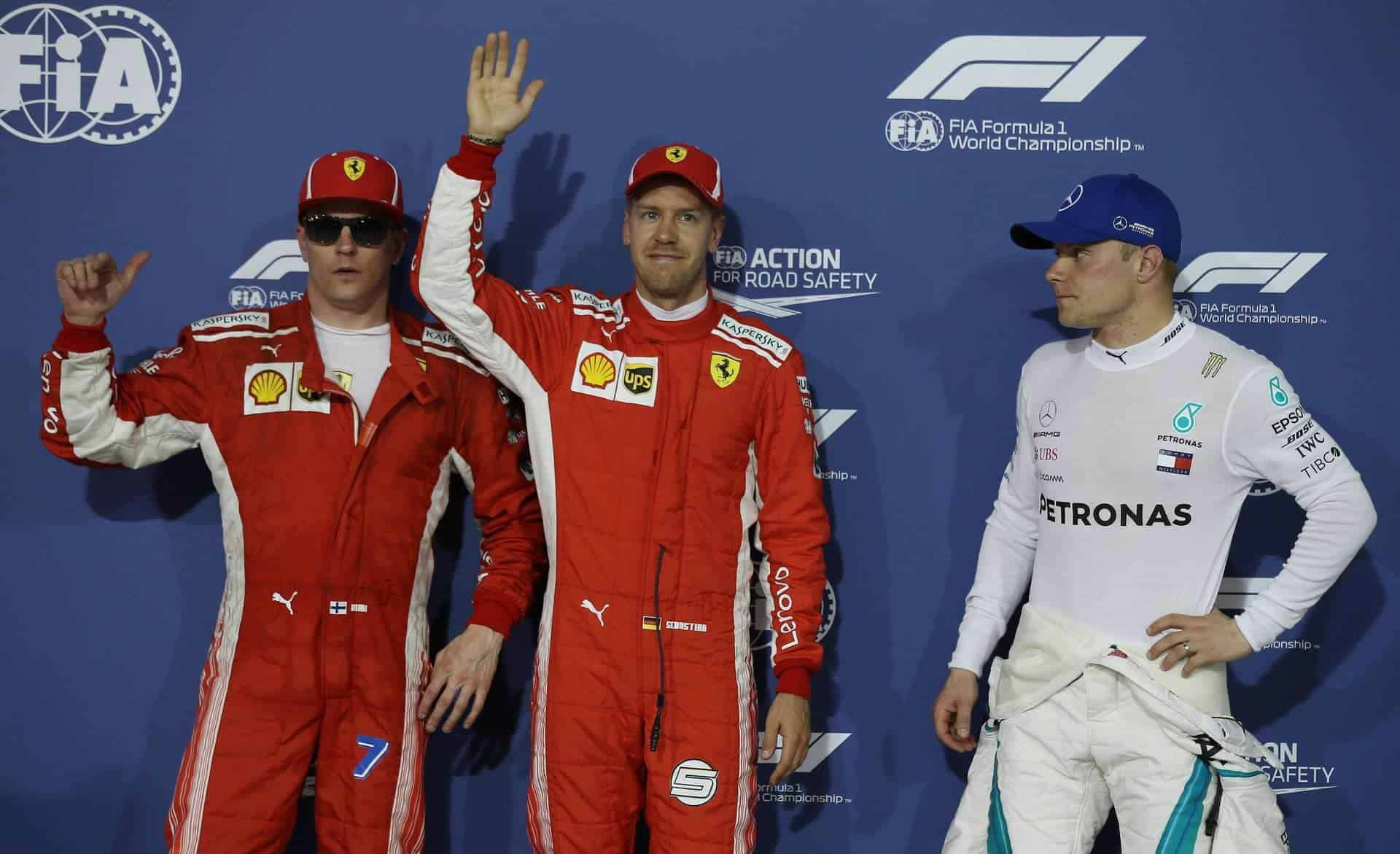 Bahrain GP F1 2018 qualifying top 3