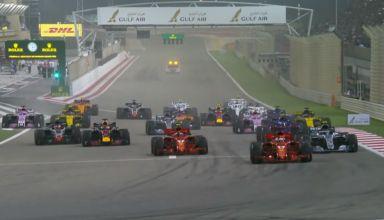 Bahrain GP F1 2018 start screenshot F1 Youtube