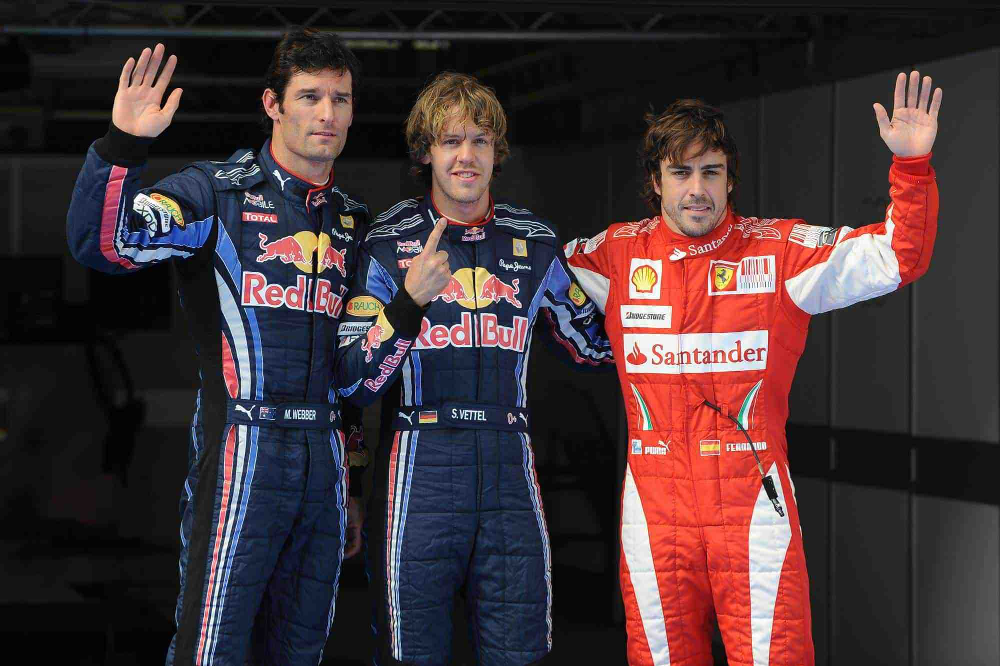 Chinese GP F1 2010 qualifying top 3 Vettel Webber Alonso