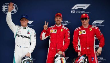 Chinese GP F1 2018 qualifying top three Vettel Raikkonen Bottas
