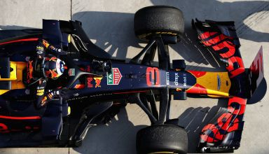 Daniel Ricciardo Red Bull RB14 Chinese GP F1 2018 top parc ferme post race