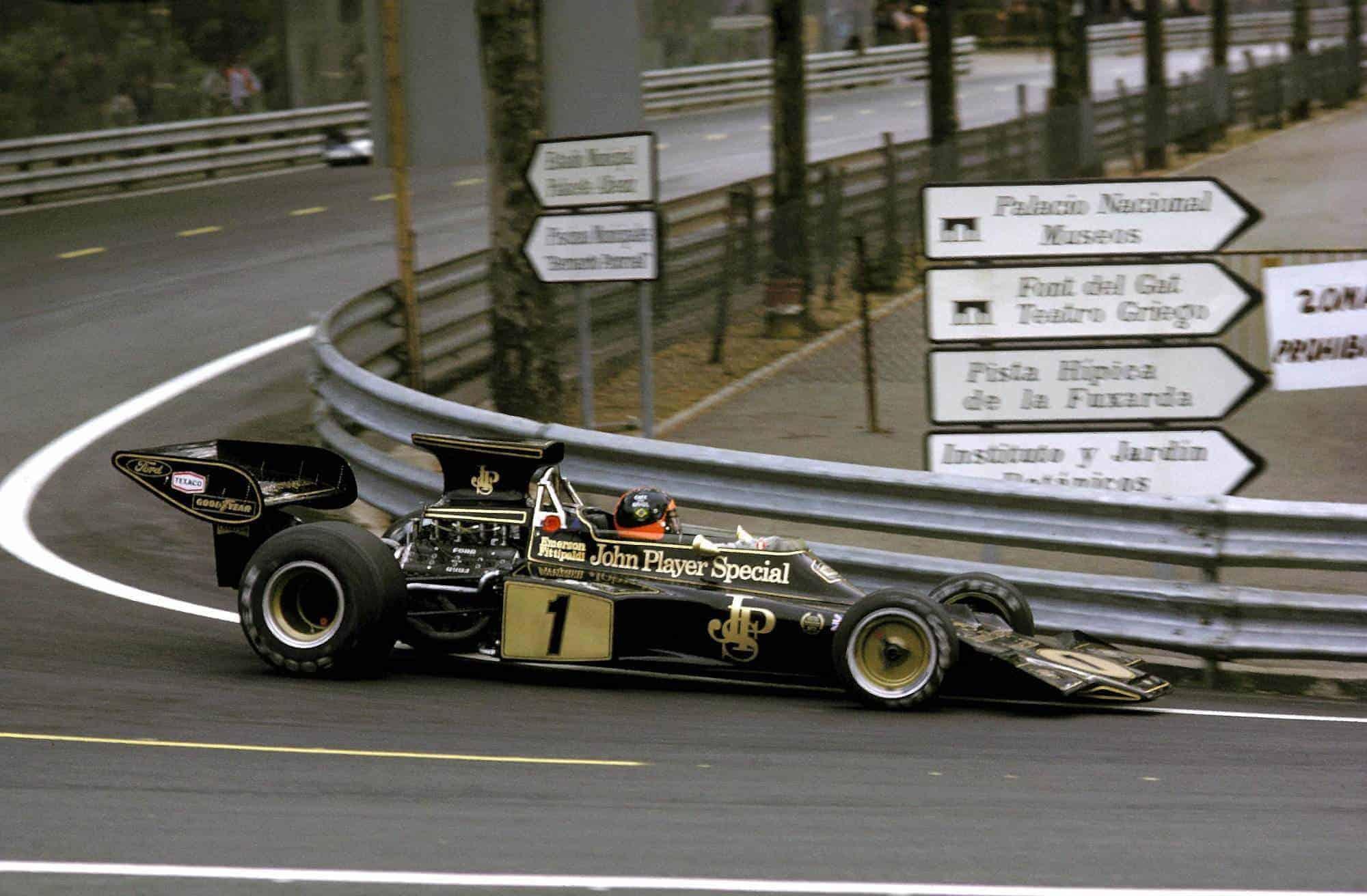 Emerson Fittipladi Lotus 72E Spanish GP F1 1973 Montjuic