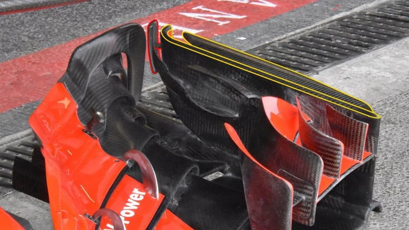 Ferrari SF71H Azerbaijan GP F1 2018 Baku front wing old endplates