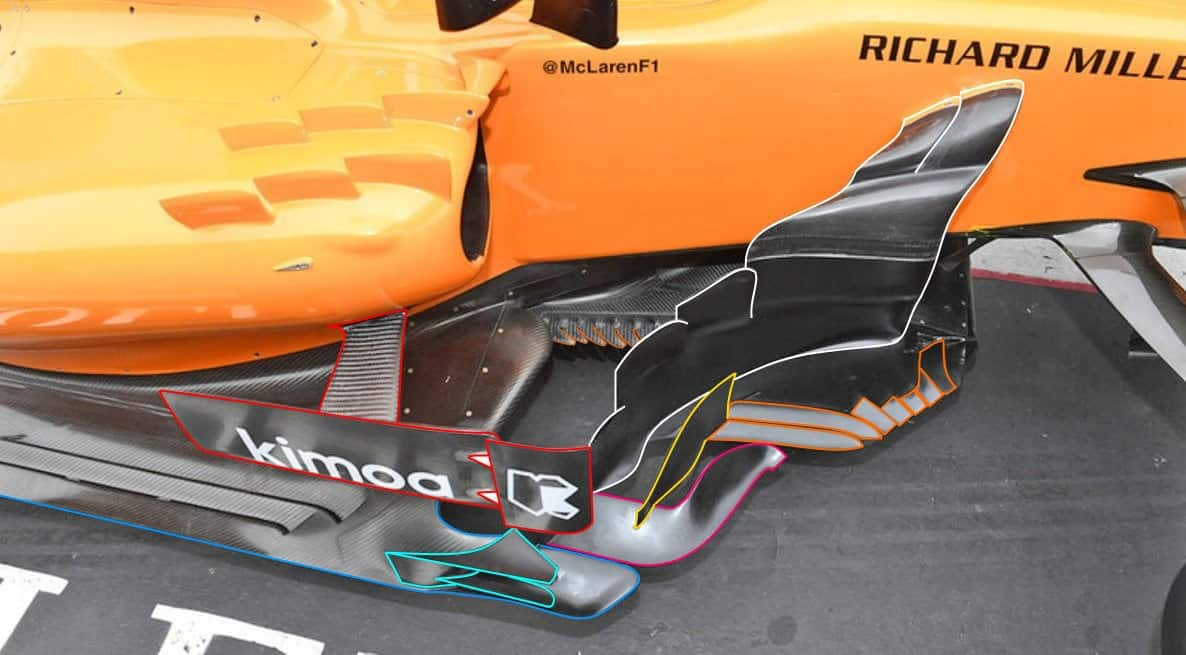 McLaren MCL33 bargeboard area F1 2018 Chinese GP Photo MAXF1net