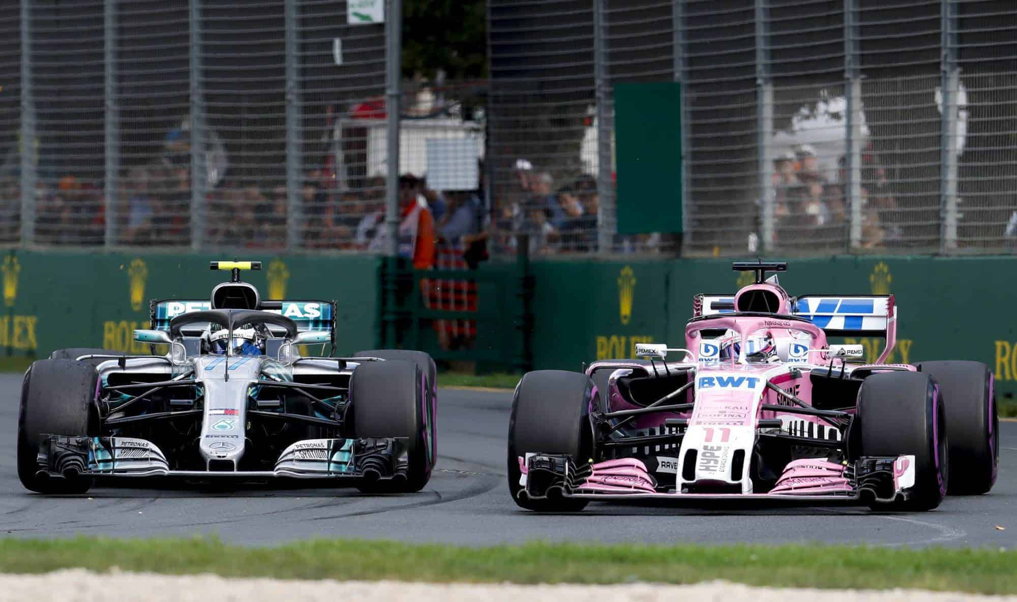 Mercedes Force India Australian GP F1 2018 Photo Daimler