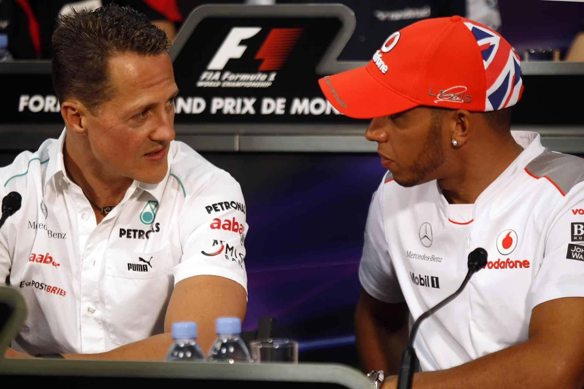 Michael Schumacher Lewis Hamilton Monaco GP F1 2012 press conference