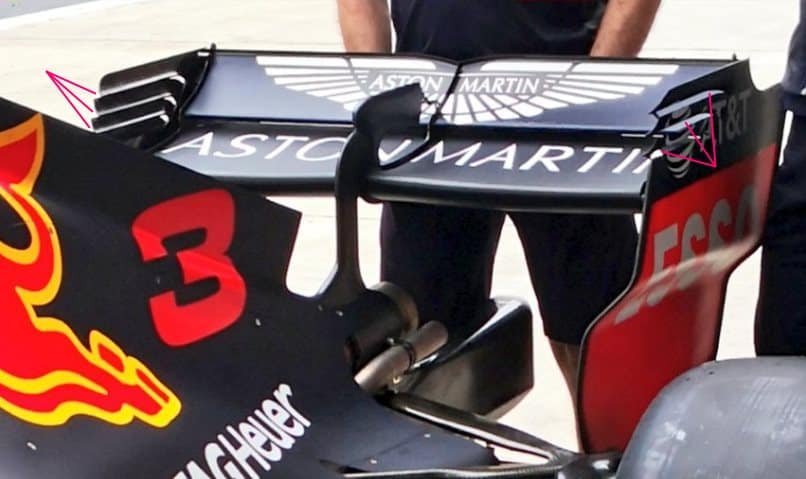 Red Bull RB14 Chinese GP F1 2018 rear wing medium downforce