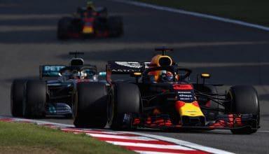 Ricciardo leads Hamilton Chinese GP F1 2018 Photo Red Bull